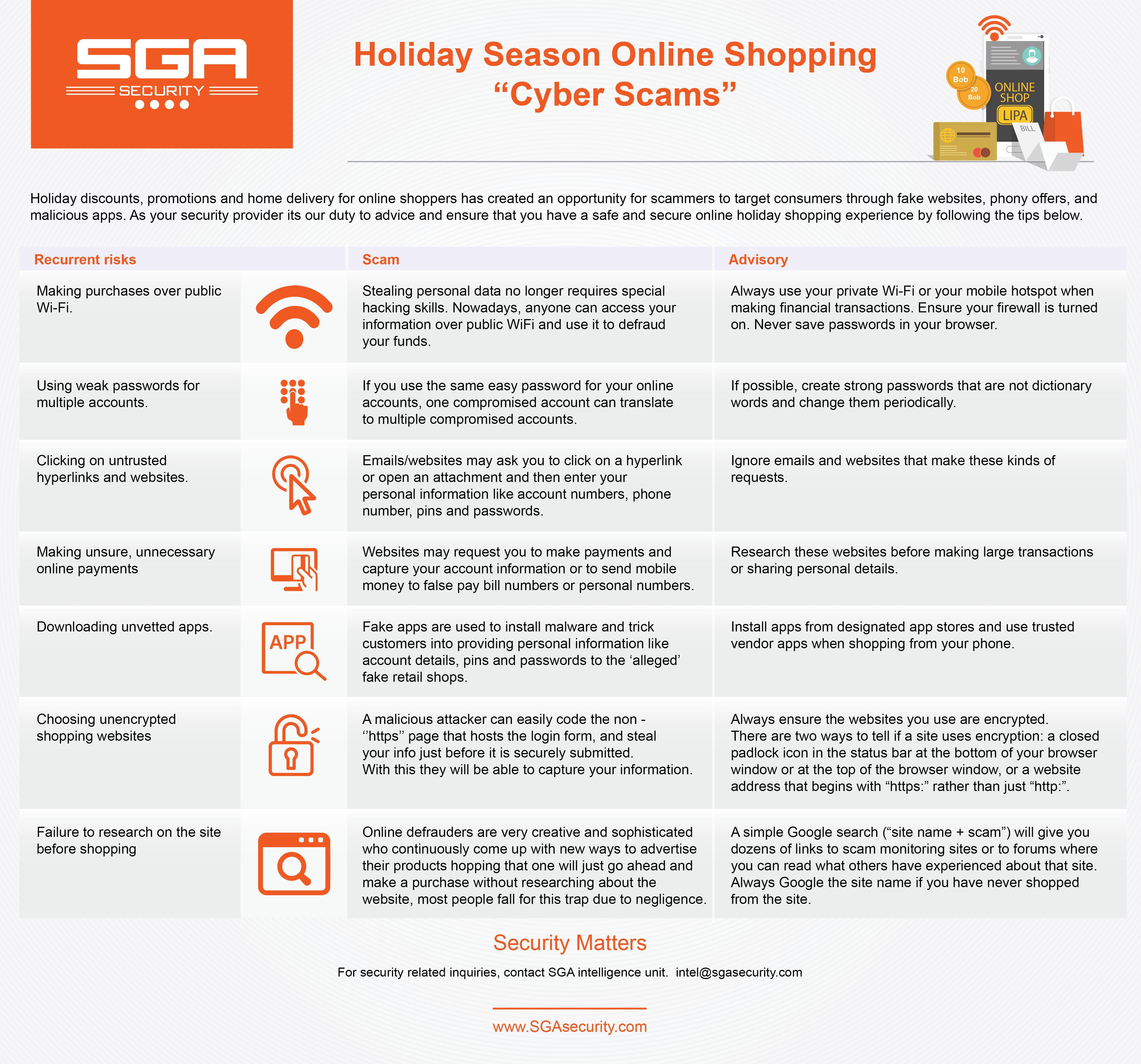 Holiday Season Online Shopping Cyber Scams Sga Security
